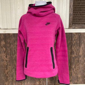 Nike funnel neck hoodie hot pink size S